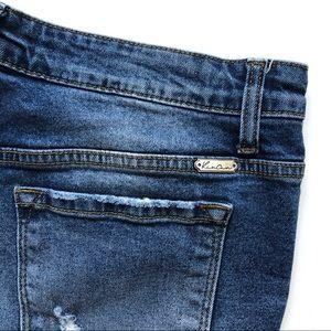 KanCan Shorts - KanCan Analia-Angela Distressed Cutoff Jean Shorts
